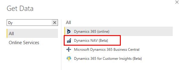 Connect Power BI with Dynamics NAV through Dynamics NAV connector